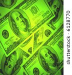 close-up of us dollar background in green - stock photo