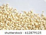 tasty salted popcorn isolated...   Shutterstock . vector #612879125