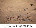 The Word Namaste Written On...