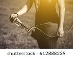 athlete aiming at a target and... | Shutterstock . vector #612888239