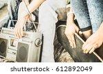 detail of alternative friends... | Shutterstock . vector #612892049