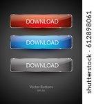 vector buttons | Shutterstock .eps vector #612898061