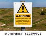 """warning sign  """"access to the...   Shutterstock . vector #612899921"""