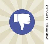 dislike icon. sign design....