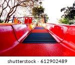 kids slope slides | Shutterstock . vector #612902489