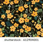 simple cute pattern in small... | Shutterstock .eps vector #612904001