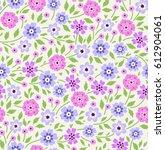 vector seamless pattern. cute... | Shutterstock .eps vector #612904061