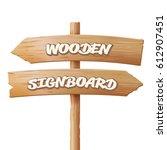 wooden signboards. old... | Shutterstock . vector #612907451