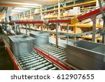 Automated Warehouse. Boxes Wit...