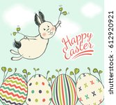 beautiful easter card with... | Shutterstock .eps vector #612920921