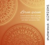 card with beautiful ethnic... | Shutterstock .eps vector #612921041