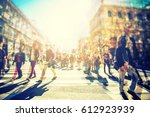 crowd of anonymous people... | Shutterstock . vector #612923939
