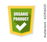 organic product shield sign   Shutterstock .eps vector #612926225