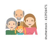 portrait people family happiness | Shutterstock .eps vector #612926471