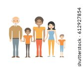 portrait people family happiness | Shutterstock .eps vector #612927854