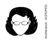 avatar female person head | Shutterstock .eps vector #612929951