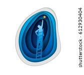 business concept illustration.... | Shutterstock .eps vector #612930404