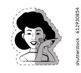 portrait female expression face | Shutterstock .eps vector #612930854