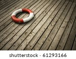 Lifebuoy on the board