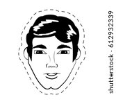 face man expression facial... | Shutterstock .eps vector #612932339