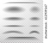 transparent soft shadow....   Shutterstock . vector #612939167