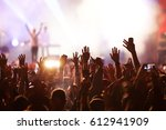 crowd at concert   summer music ... | Shutterstock . vector #612941909