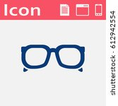 glasses flat icon. vector... | Shutterstock .eps vector #612942554