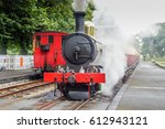 old steam locomotive on... | Shutterstock . vector #612943121