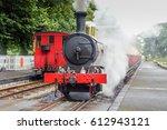 old steam locomotive on... | Shutterstock . vector #612943121
