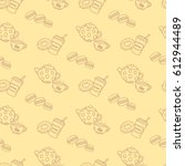 light brown seamless pattern...   Shutterstock .eps vector #612944489