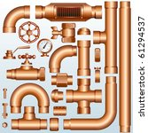 collection of detailed brass... | Shutterstock .eps vector #61294537