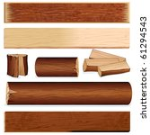 vector isolated wooden objects... | Shutterstock .eps vector #61294543