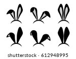 easter bunny ears mask. rabbit... | Shutterstock .eps vector #612948995