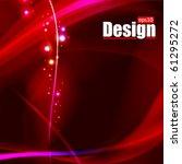 glowing background   vector... | Shutterstock .eps vector #61295272