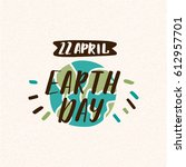 earth day illustration | Shutterstock .eps vector #612957701