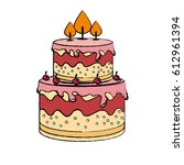 sweet cake delicious icon | Shutterstock .eps vector #612961394