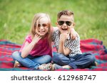 brother and sister    Shutterstock . vector #612968747