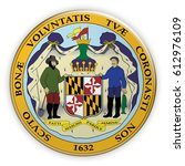 badge us state seal maryland ... | Shutterstock . vector #612976109