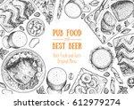 pub food frame vector...   Shutterstock .eps vector #612979274