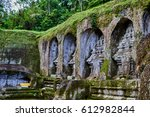 ancient carved in stone temple... | Shutterstock . vector #612982844