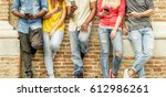 group of multiracial students... | Shutterstock . vector #612986261