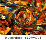 shards of paint series.... | Shutterstock . vector #612994775