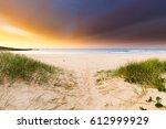 A Beach Path Leading To A...
