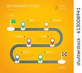 infographics design with start  ... | Shutterstock .eps vector #613008941