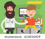 doctor  medical concept design... | Shutterstock .eps vector #613010429