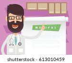 doctor  medical concept design... | Shutterstock .eps vector #613010459
