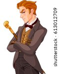 illustration of young victorian ... | Shutterstock .eps vector #613012709