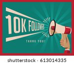 thank you for following... | Shutterstock .eps vector #613014335