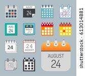 vector calendar web icons... | Shutterstock .eps vector #613014881
