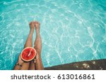 relaxation and leisure  ...   Shutterstock . vector #613016861